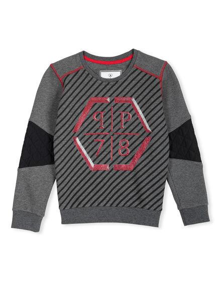 Sweatshirt LS Platin Silver