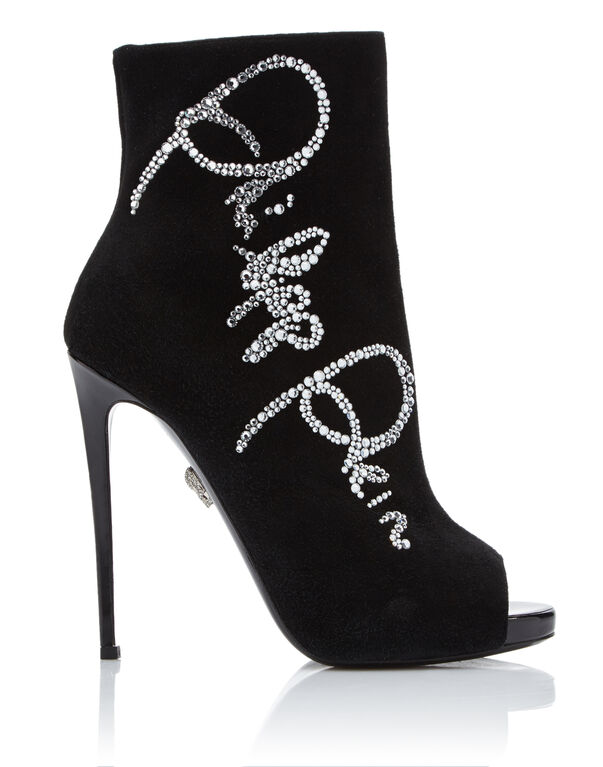 "bootie high heels ""Crystal Plein"""