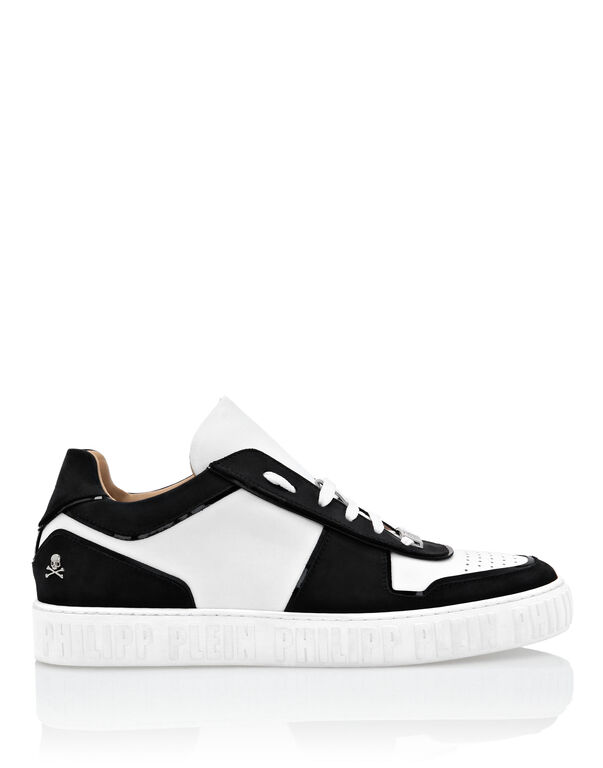 Lo-Top Sneakers Bicolor mix leathers King Power