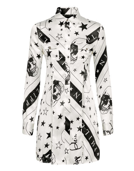 Shirt dress Stars and skull