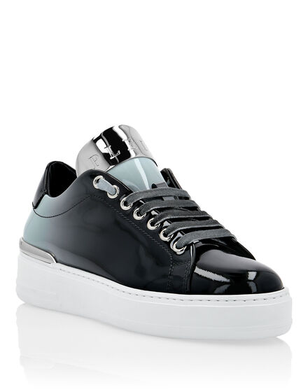 Patent Leather Lo-Top Sneakers Degradè Silver $urfer TM