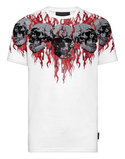 T-shirt Round Neck SS Skull on fire