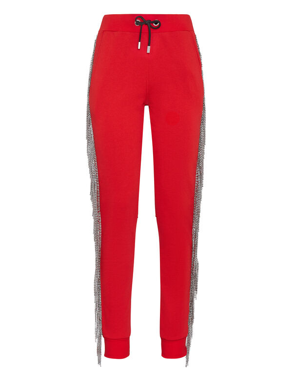 Jogging Trousers Crystal Fringe
