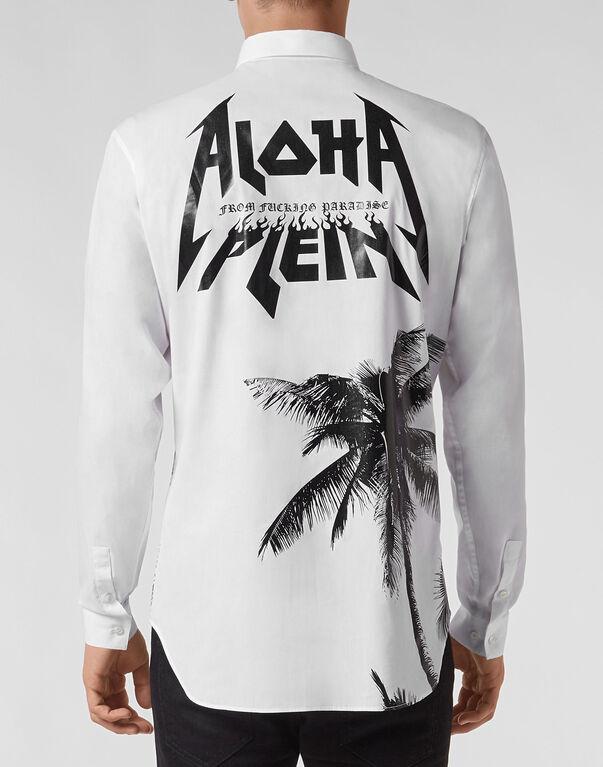 Shirt Crystal cut LS Aloha Plein