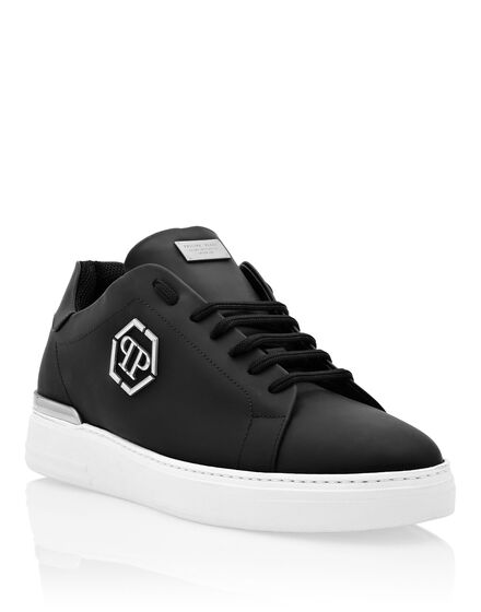 Rubber Leather Lo-Top Sneaker Hexagon
