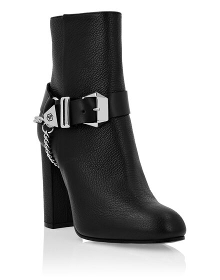Leather Boots Lo-Heels High Iconic Plein