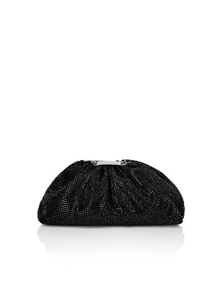 Suede Mini Pillow bag Crystal