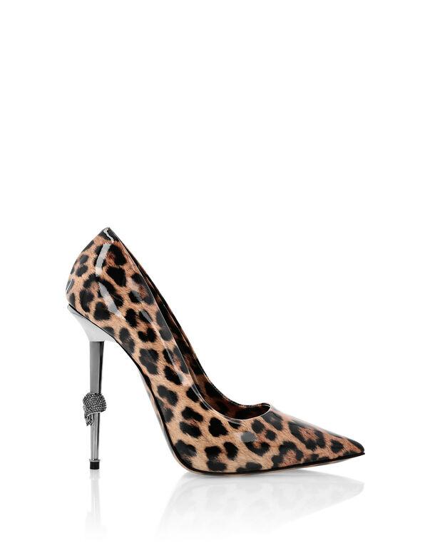 Patent Leather Decollete Hi-Heels Leopard