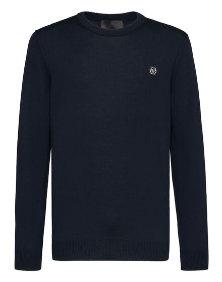 Wool Pullover Round Neck LS Istitutional