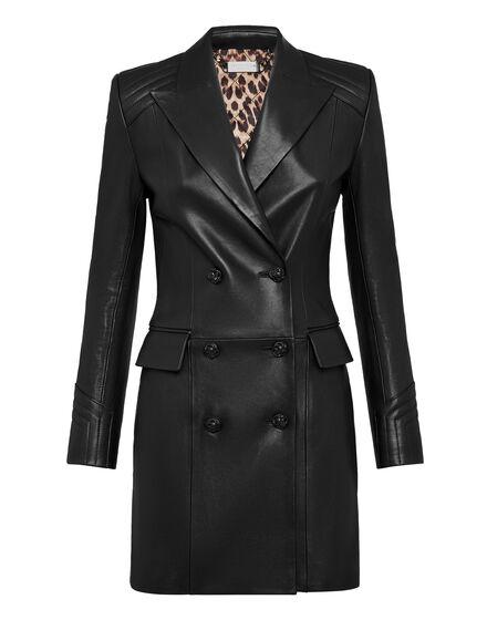 Lambskin Long Coat Iconic Plein