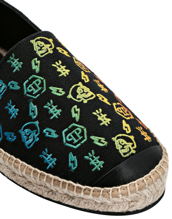 Canvas Espadrillas Embroidery Monogram