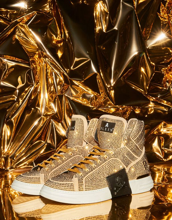 PHANTOM KICKS Hi-Top Sneakers Gold