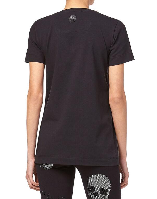 "T-shirt V-Neck SS ""Big crystal signature"""
