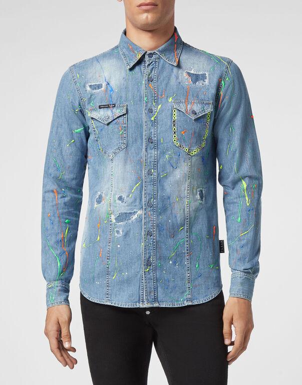 Denim Shirt Ls Painted