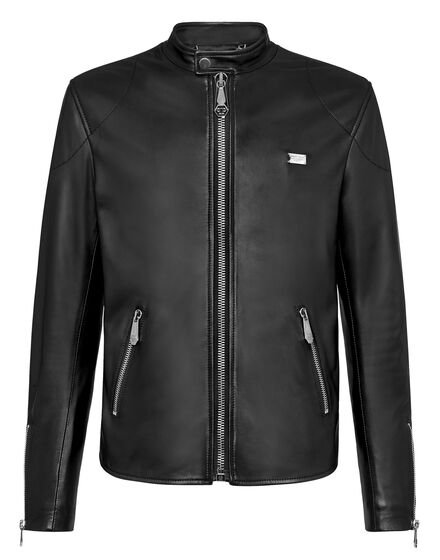 Leather Moto Jacket Philipp Plein TM