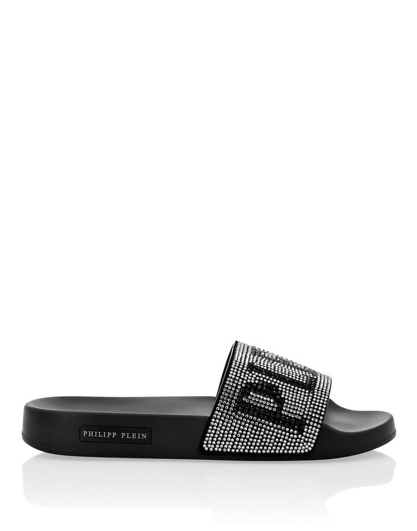 Flat gummy sandals Crystal Plein