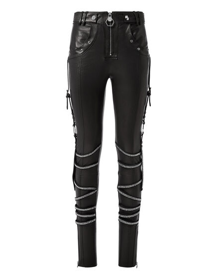 Leather Trousers Long Crystal