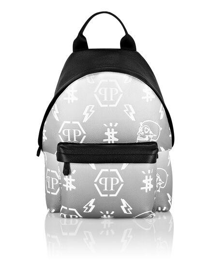 Leather Backpack Degradè print Monogram