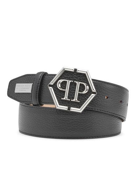 Leather Belt Hexagon