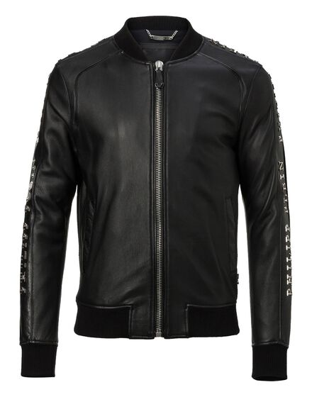 Leather Bomber Tituan