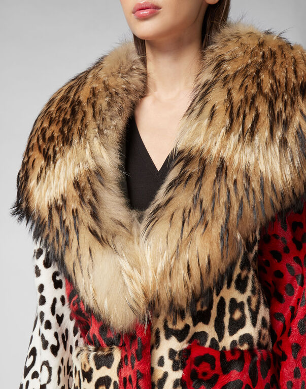 Fur Coat Long Maculate
