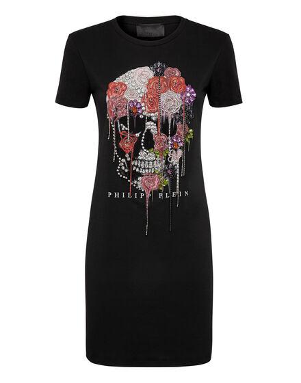 T-Shirt Short Dresses Skull and roses