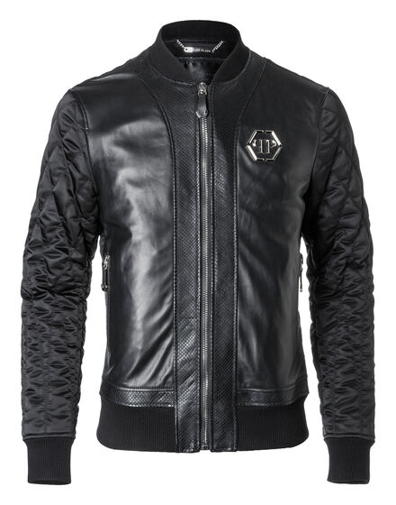 Leather Bomber Imai