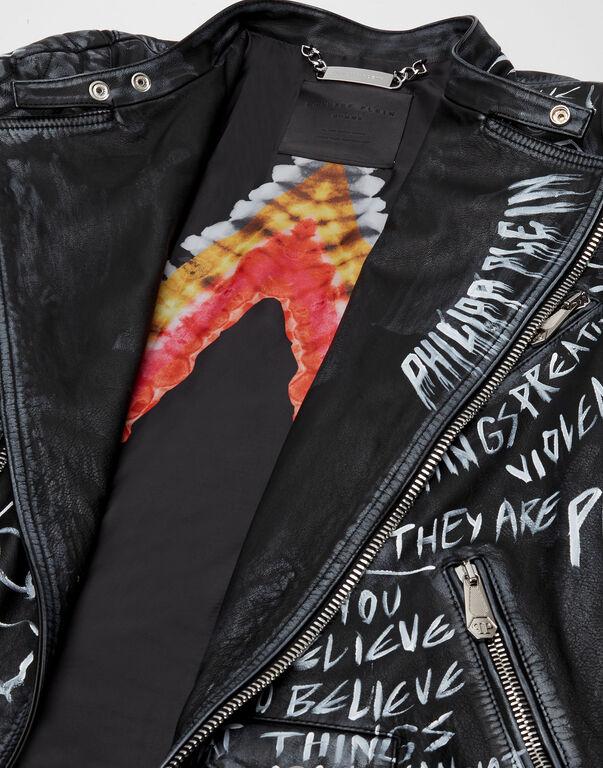 Leather Biker ROCKSTAR