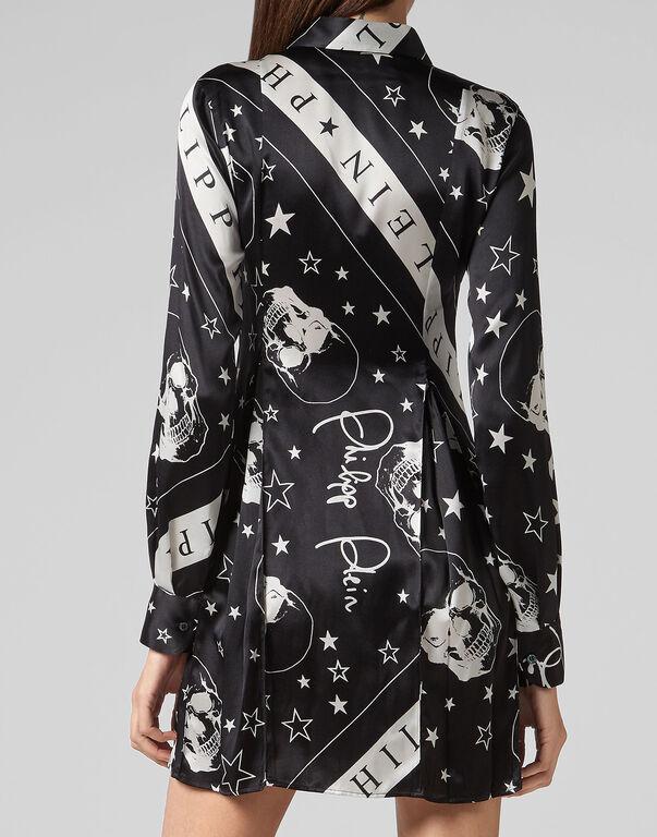 Shirt dress Stars and skull