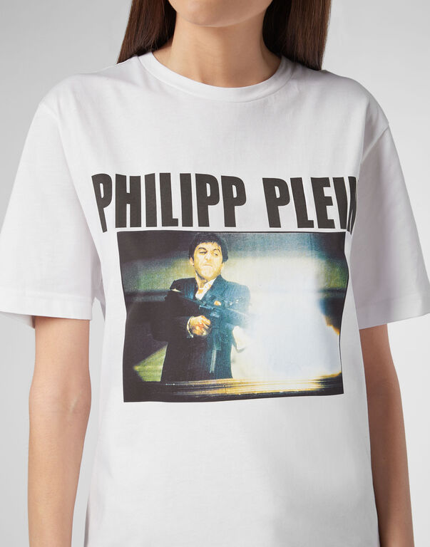 T-shirt Platinum Cut Round Neck Scarface