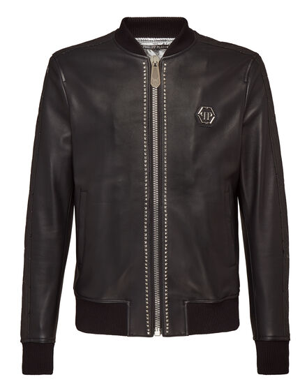Leather Bomber Like This