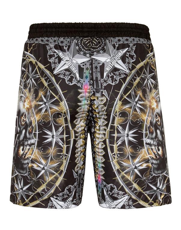 Beachwear Trousers Foulard texture