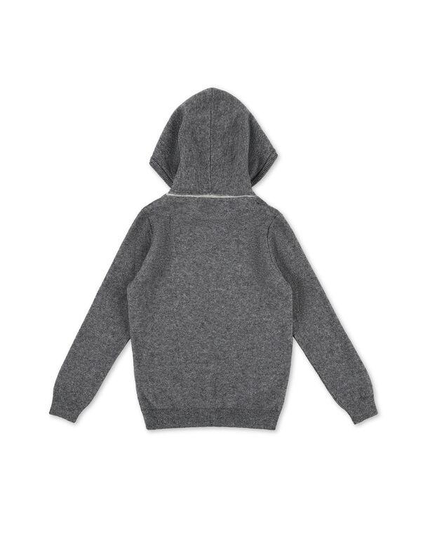 Knit hoodie Skull