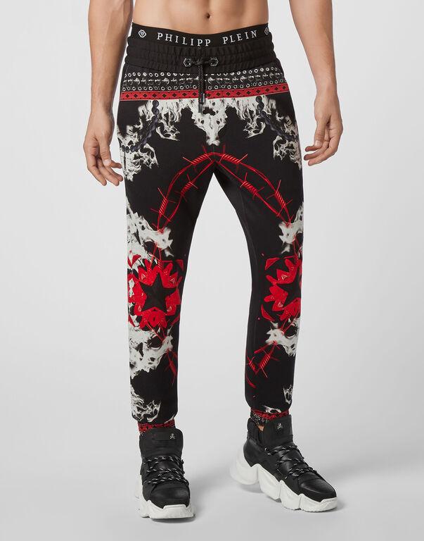 Jogging Trousers Foulard texture