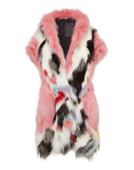 Fur Vest Long Chic