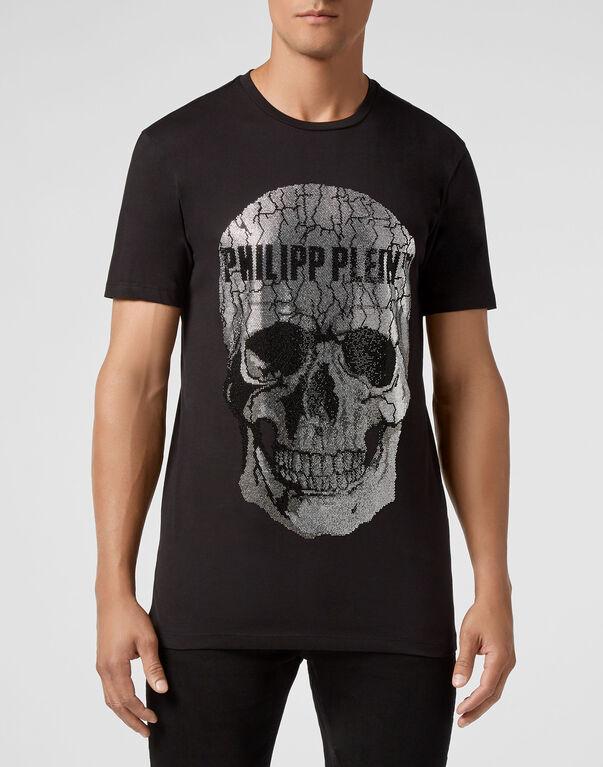 Philipp Plein Crâne Large Noir Ss T-Shirt Authentique BNWT