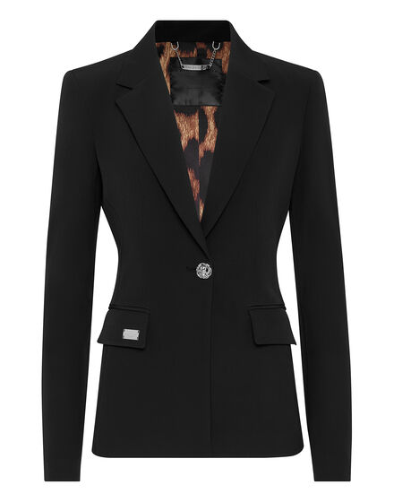 Cady Blazer long-sleeved Skull strass