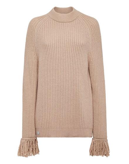 Cashmere 5 leisurewear Turtle Neck LS Embroidery Love Plein