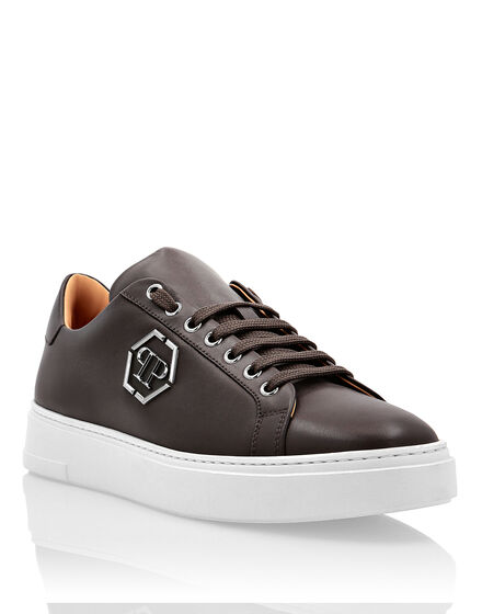 Leather Lo-Top Sneakers The Plein Original TM
