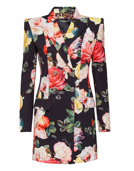 Blazer Dress Delphina Painted  Flowers