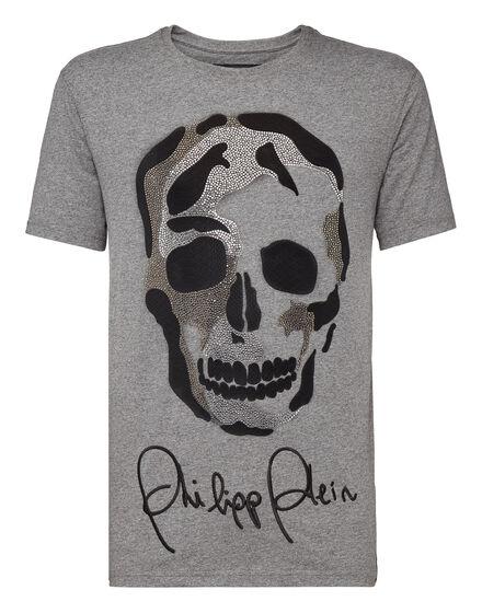 T-shirt Platinum Cut Round Neck We Against