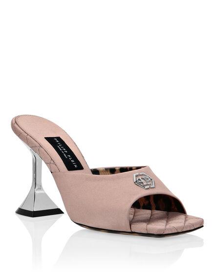 Satin  Sandals Mid Heels Iconic Plein