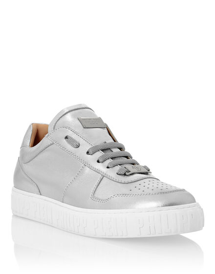Laminated Leather Lo-Top Sneakers King Power