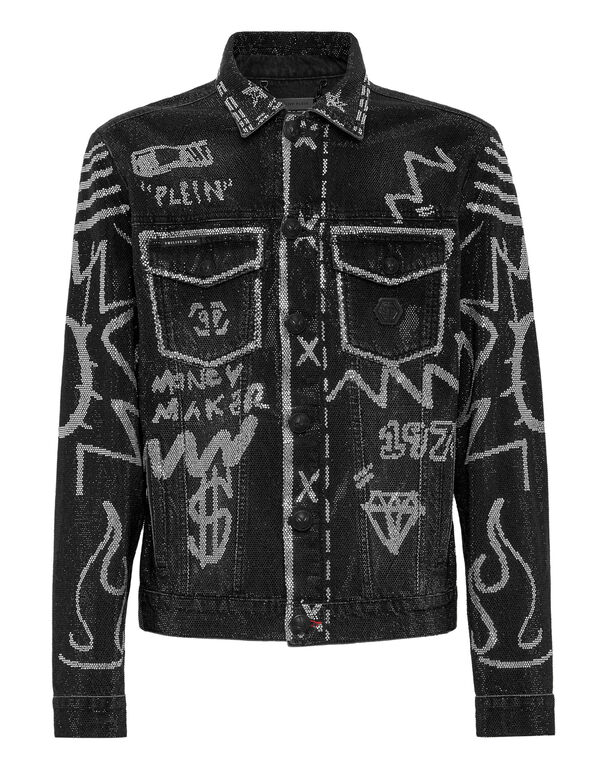 Denim Jacket Full stones Graffiti