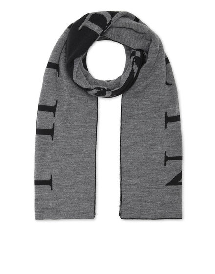 Wool Blend Long Scarf Iconic Plein