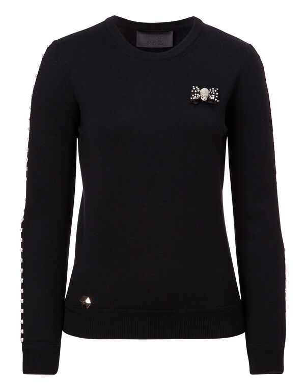 """Pullover Round Neck LS """"Kiss Silly"""""""