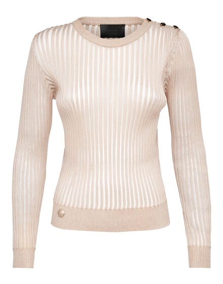 Pullover Round Neck LS Diamond