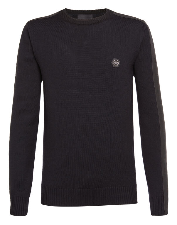 "Pullover Round Neck LS ""Black band"""