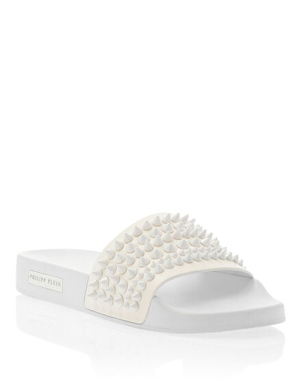 Flat gummy sandals Studs