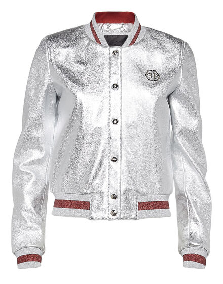 Leather Bomber Ivory